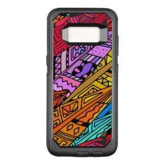 Bunter afrikanischer Entwurf OtterBox Commuter Samsung Galaxy S8 Hülle