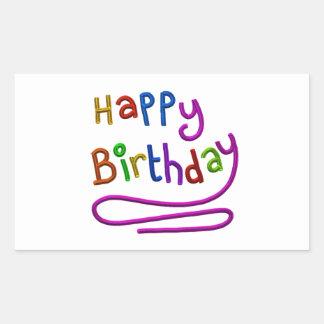 Bunter alles- Gute zum Geburtstaggruß Rechteckiger Aufkleber