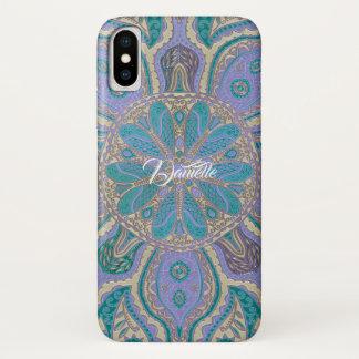 Bunter aquamariner lila GoldMandala iPhone X