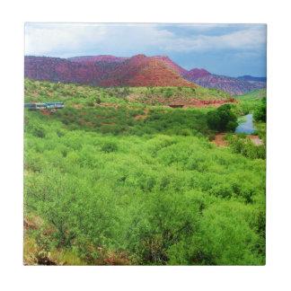 Bunter Arizona-Schlucht-Zug - Südwesten draußen Keramikfliese