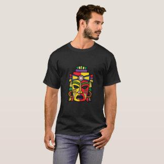 Bunter aztekischer Inka-Mayamaske T-Shirt