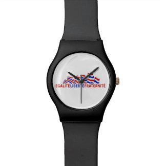 Bunter Bastille-Tagesentwurf Uhr