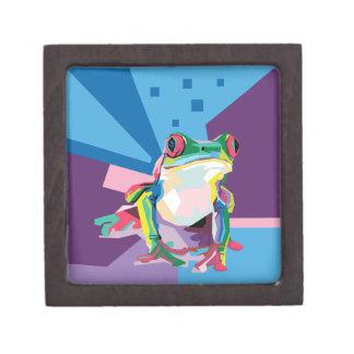 Bunter Baum-Frosch-Porträt-Andenken-Kasten Kiste