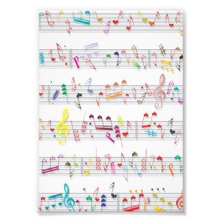 Bunter Blatt-Musiknoten Foto