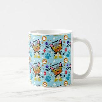 Bunter blauer Yorkshire-Terrier-Cartoon Kaffeetasse