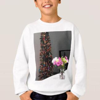 Bunter Blumen-Blumenstrauß und Weihnachtsbaum Sweatshirt