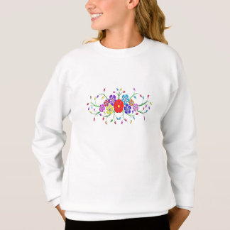 bunter Blumenblumenstrauß Sweatshirt