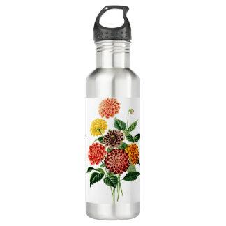Bunter botanischer Blumen-Blumenstrauß Trinkflasche