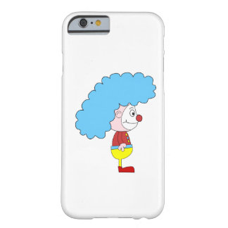 Bunter Clown-Cartoon. Blaues Haar Barely There iPhone 6 Hülle