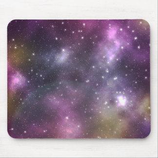 Bunter cooler Nebelfleck und Sterne im Raum Mousepad