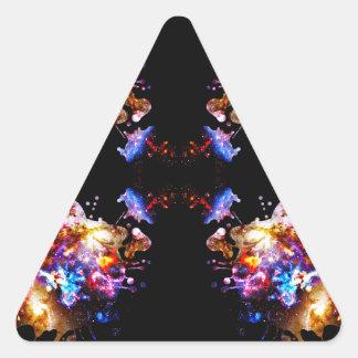 Bunter CosmosColorful Kosmos Dreieckiger Aufkleber