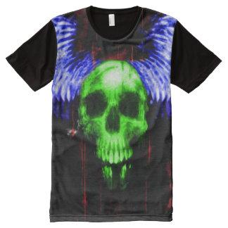 Bunter Dämon PhantomSkully Schädel-Bote T-Shirt Mit Bedruckbarer Vorderseite