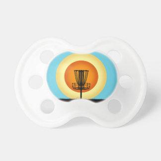 Bunter Disc-Golf-Korb Schnuller
