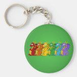 Bunter Drache-Cartoon Keychain des Regenbogens Schlüsselband