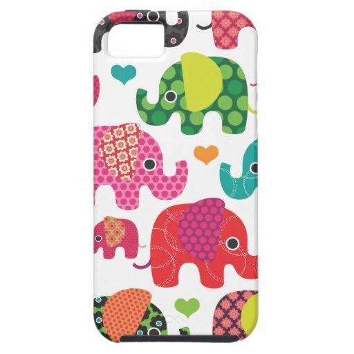 Bunter Elefant Kindermuster Hülle Fürs iPhone 5