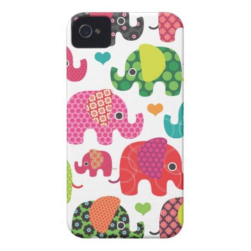 Bunter Elefant, Kindermuster iPhone 4 Hüllen