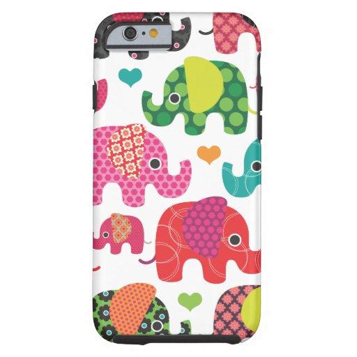 Bunter Elefant scherzt Muster iPhone 6 Fall Tough iPhone 6 Hülle