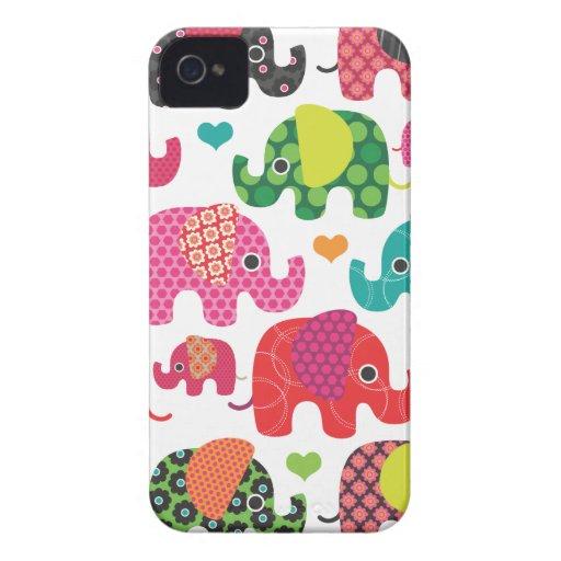 Bunter Elefant scherzt Muster iphone Fall Case-Mate iPhone 4 Hülle