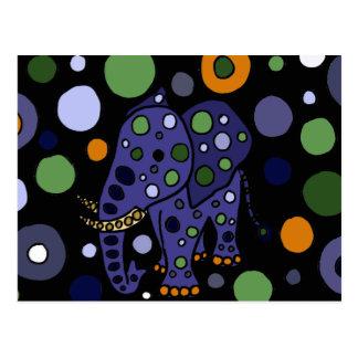 Bunter Elefant-und Kreis-Kunst-Entwurf Postkarte