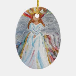 Bunter Engel Keramik Ornament