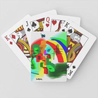 bunter Esel und Regenbogen Pokerkarte