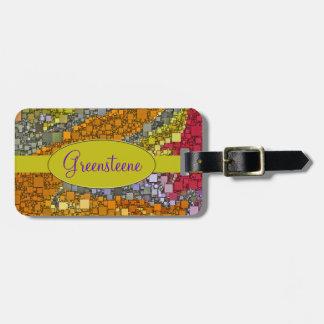 Bunter Fall-Blumenstrauß-Kasten-Entwurf Gepäckanhänger