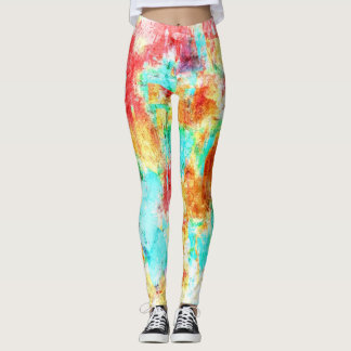 Bunter Farben-Spritzer #8 Leggings