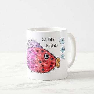 Bunter Fisch mit Worten Kaffeetasse