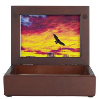 Bunter Fliegen-Vogel-Fliegen-Andenken-Kasten Erinnerungsdose
