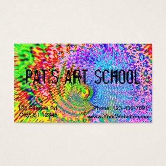 Bunter Fraktal-Kunst-Entwurf Visitenkarte
