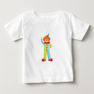 Bunter freundlicher Clown im Party-Hut-Klassiker Baby T-shirt
