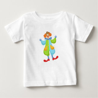 Bunter freundlicher Clown in der Melone in Baby T-shirt