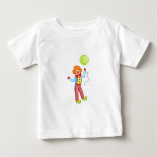 Bunter freundlicher Clown mit Ballon in Baby T-shirt