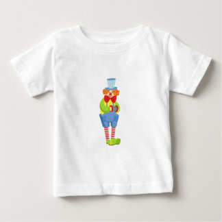Bunter freundlicher Clown mit Miniaturakkordeon I Baby T-shirt