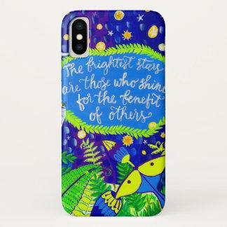 Bunter Freundschafts-Zitat iphone Kasten iPhone X Hülle