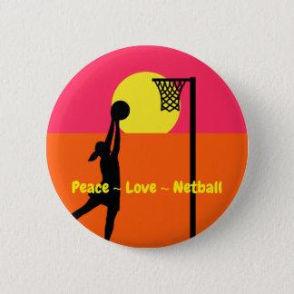 Bunter FriedensLiebeNetball Runder Button 5,1 Cm