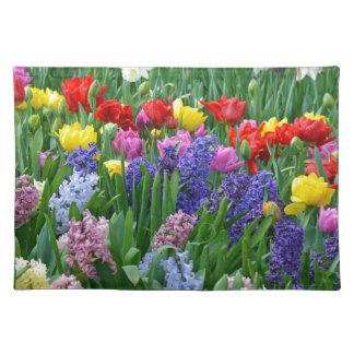 Bunter Frühlings-Blumengarten Tischset