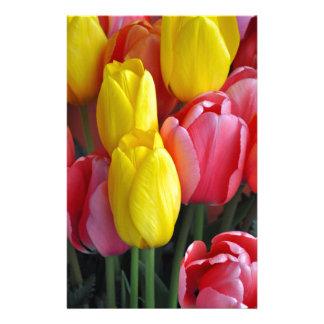 Bunter Frühlingstulpeblumenstrauß Briefpapier
