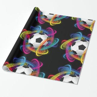 Bunter Fußball-glattes Packpapier