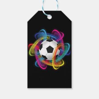 Bunter Fußball-kundenspezifische Geschenk-Umbauten Geschenkanhänger