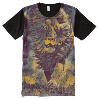 Bunter Geist-Löwe-grafische neue Art-Kunst T-Shirt Mit Bedruckbarer Vorderseite