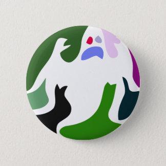 bunter Geist Runder Button 5,7 Cm