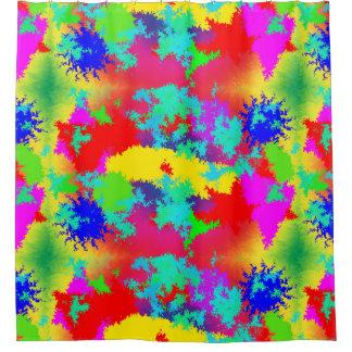 Bunter gelegentlicher Trippy Muster-Duschvorhang Duschvorhang