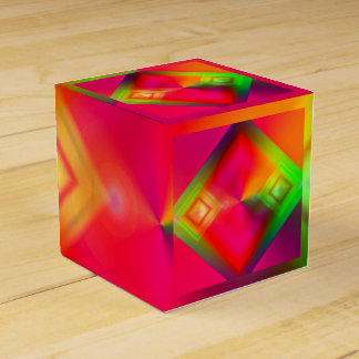 Bunter geometrischer Entwurf Geschenkschachtel