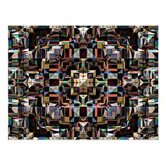 Bunter geometrischer Mandala abstrakt Postkarte