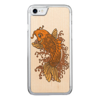 Bunter Goldfisch Koi Carved iPhone 8/7 Hülle