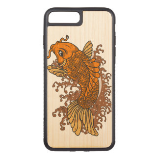 Bunter Goldfisch Koi Carved iPhone 8 Plus/7 Plus Hülle