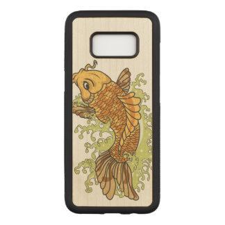 Bunter Goldfisch Koi Carved Samsung Galaxy S8 Hülle