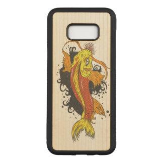 Bunter Goldfisch Koi Carved Samsung Galaxy S8+ Hülle
