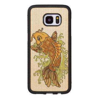 Bunter Goldfisch Koi Samsung Galaxy S7 Edge Holzhülle